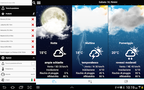 Weather for Italy- screenshot thumbnail