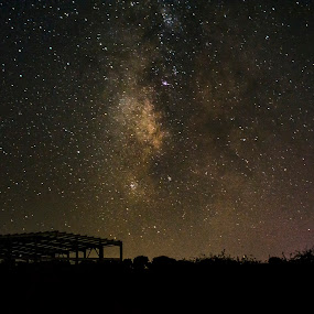 The milky way over a greenhouse! by Stavros Troullinos - Landscapes Starscapes ( greece, rethymno, long exposure, night, crete, landscape, universe, starscape, milky way,  )