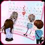 Innocent Couple Love Keyboard Theme