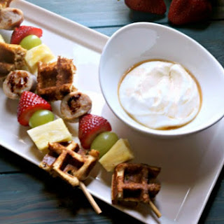 Waffle Kabobs with Maple Yogurt Dipping Sauce #SundaySupper