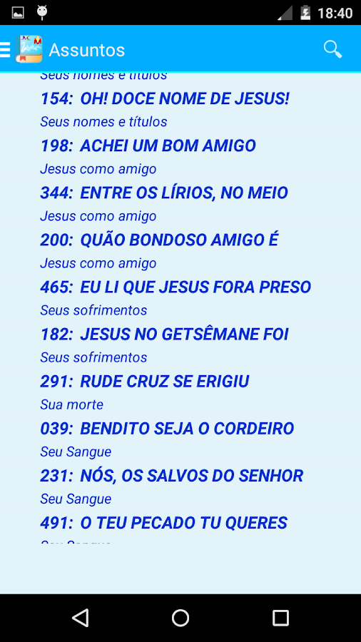 Hinário Cristã  JMC. - screenshot