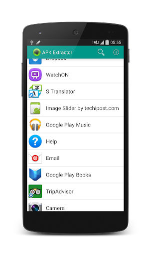 Android APK Image Extractor - Host and City Location on the World Map