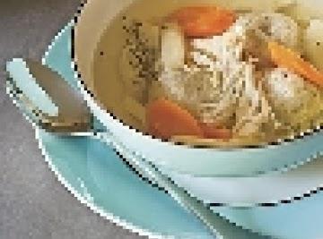 Matzo Ball Green Chili Chicken Soup Recipe