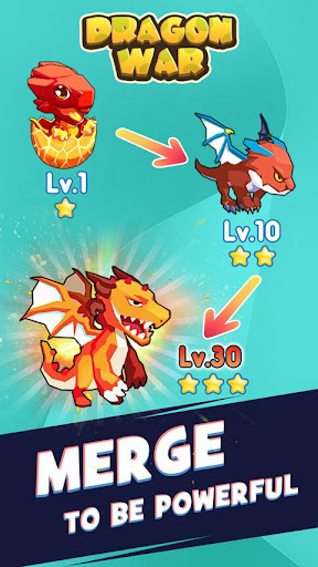Dragon War - Merge & Idle Tycoon  captures d'u00e9cran 2