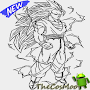 Learn to draw sketches son goku super saiyan APK icon