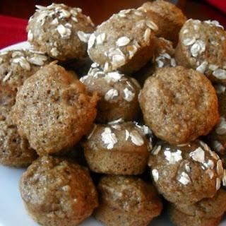 Whole Wheat Honey Banana Applesauce Muffins.