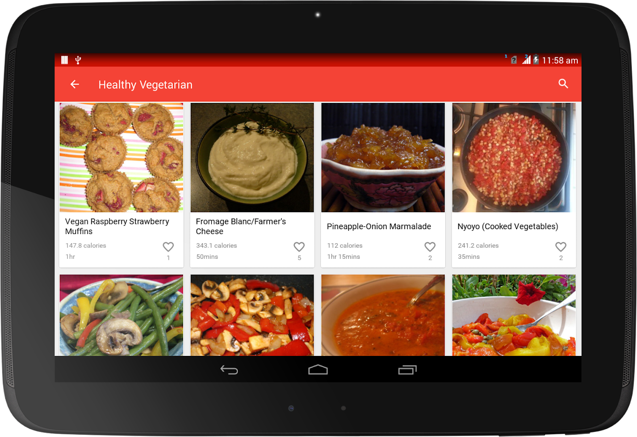 Healthy Recipes- screenshot