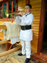 Photo: A very talented kid, here playing the trumpet.