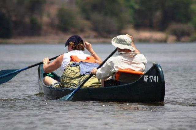 Zambezi classic short canoe safari