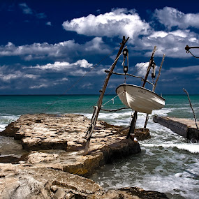 Savudrija by Zarko Piljak - Landscapes Waterscapes ( clouds, sky, istria, sea, savudrija, boat )