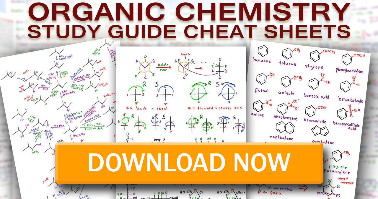 Download Organic Chemistry Cheat Sheets