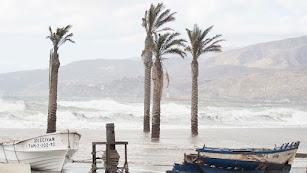 Temporal en Almería, imagen del año 2016.