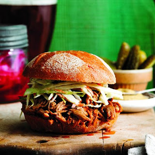 Pulled Pork With Ginger-bourbon Sauce.