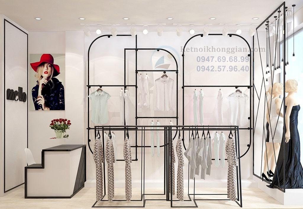 thiết kế shop thời tragn công sở đẹp mê hoặc