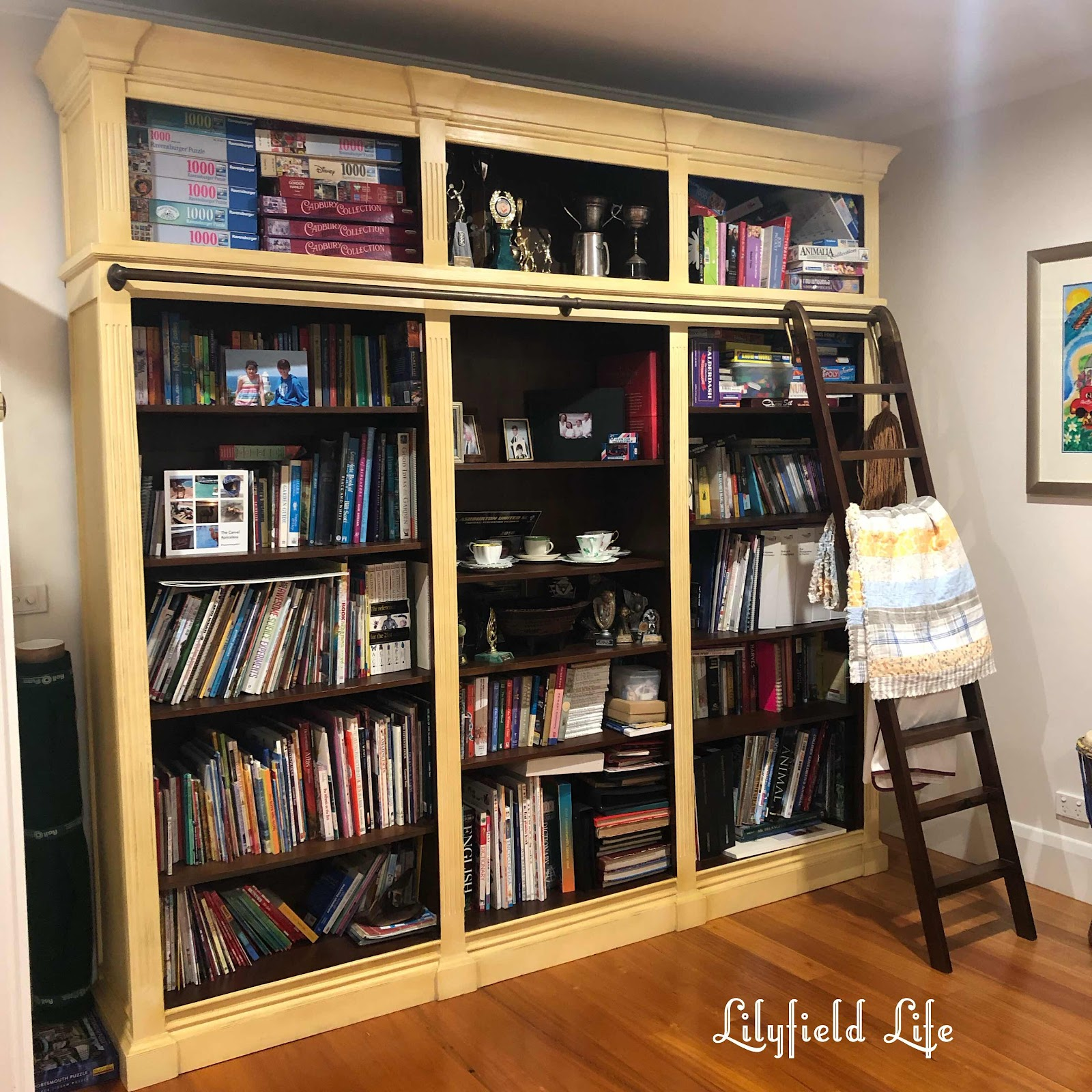 before bookcase: paint your furniture