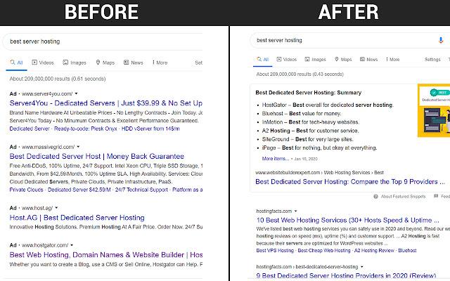 Google Search Ad Remover