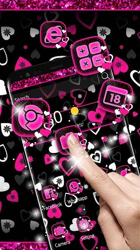 Download Black Pink Love Theme APK latest version App by