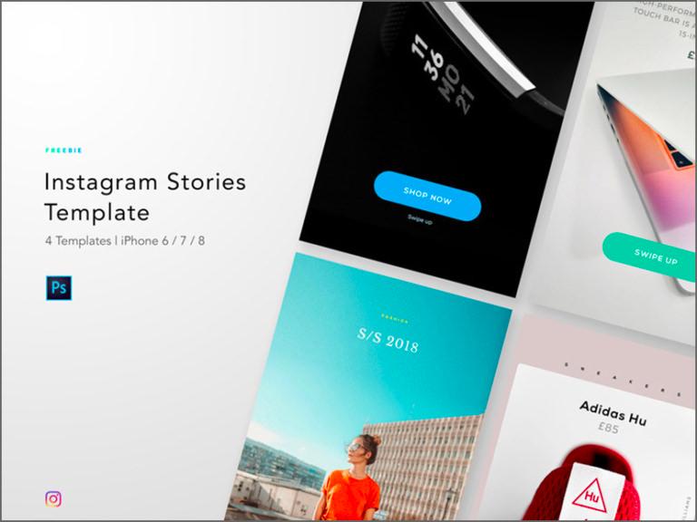 Instagram Stories Templates Photoshop Minimalist