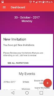 Invitation App(Invitation SMS,Reminder,RSVP,Event) - náhled