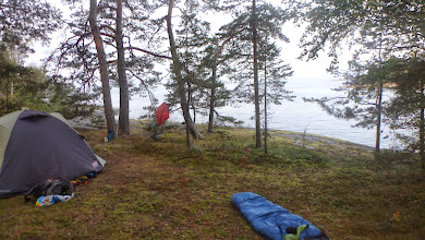 Photo: A perfect place for camping. The thick moss makes for a soft sleep and you have a beach 15 meters from you. In the evening you can watch the sunset and later the stars.