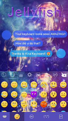 Jellyfish Emoji iKeyboard Skin - screenshot