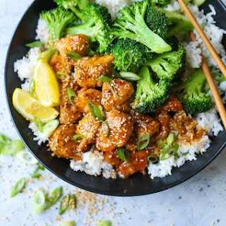 Honey Lemon Chicken and Broccoli Bowls