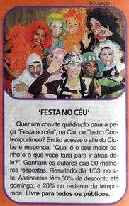 Photo: Promoção do Clube do Assinante d'O Globo: Carolina Floare como BUTIJA (em baixo, ao centro) - DETALHE