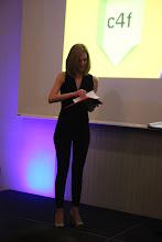 Photo: Anna Lukanina, opening the envelope...