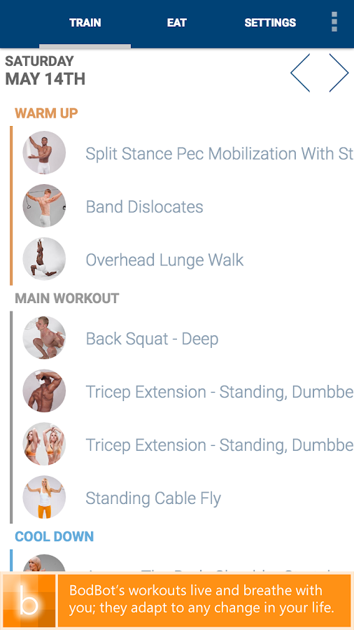 BodBot Personal Trainer- screenshot