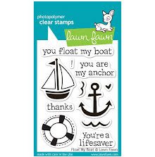 Lawn Fawn Clear Stamps 3X4 - Float My Boat