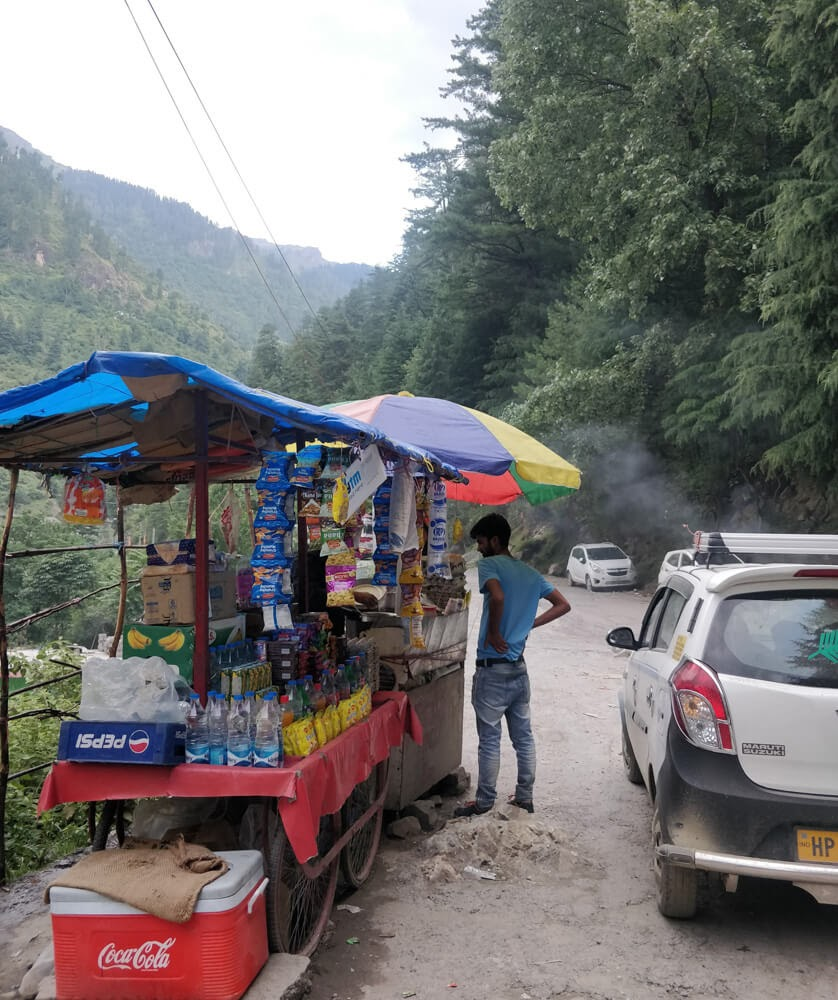 road+from+manikaran+barshaini+parvati+valley+kullu+himachal