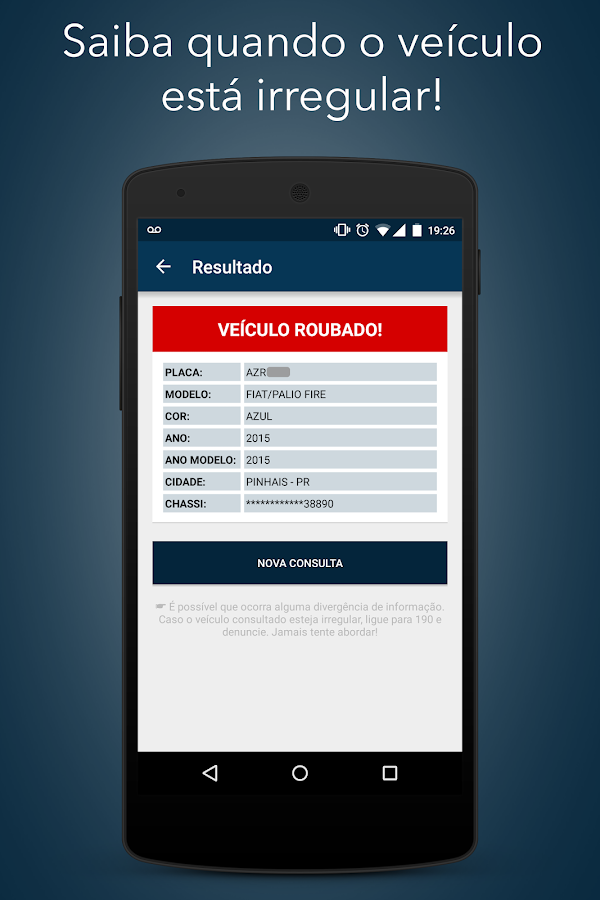 Consulta Placa DETRAN- screenshot