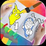 Cartoons Coloring Book Icon