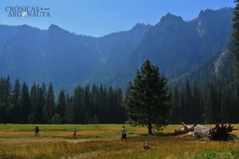 visitando el parque nacional de Yosemite