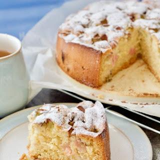 Easy Rhubarb Cake.