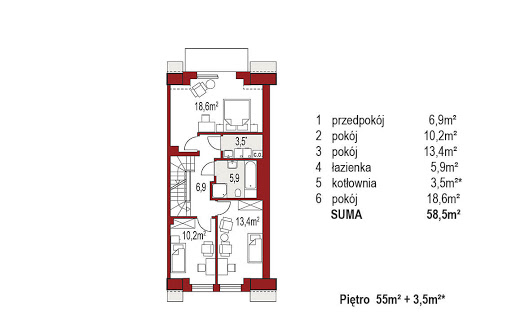 Diana A segment prawy - Rzut piętra