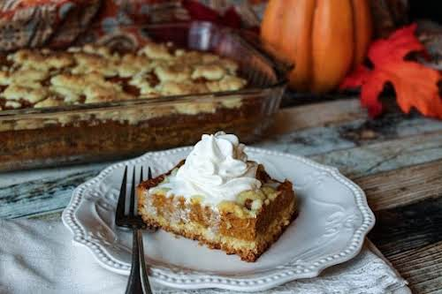 "Click Here for Recipe: Pumpkin Cobbler ""This may become your go to..."