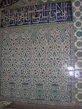 Photo: Harem, Topkapi Palace, walls covered with Iznik tiles ****** muren bedekt met Iznik tegels