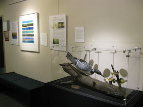 Photo: Ann Singsass watercolor and Jim Ramsdell wood sculpture