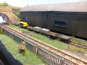 Photo: 008 The permanent way dept storage siding in front of the carriage shed, with the remains of the point that used to provide a loop. The story is that this was removed when the preservation society refurbished the track after it took over in the 1960's .