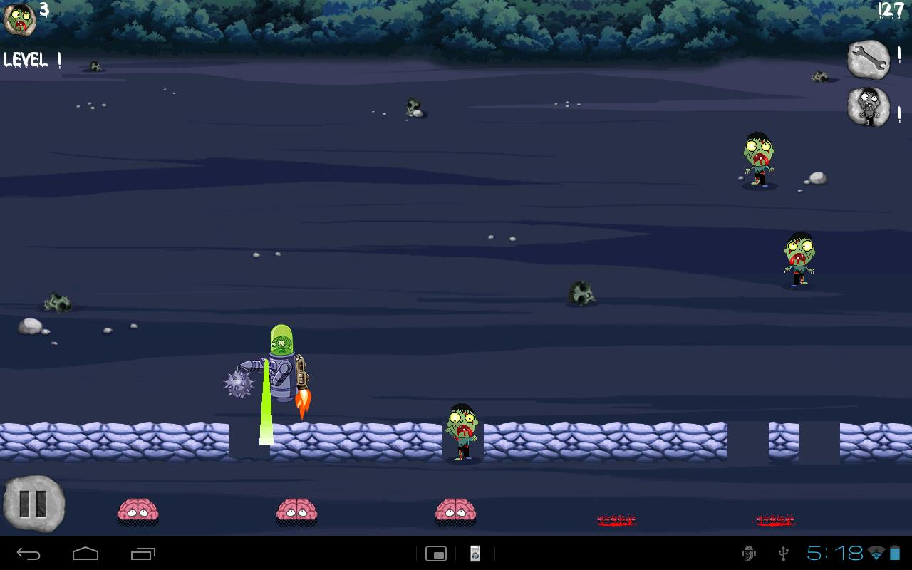 Brainbots vs Zombies- screenshot