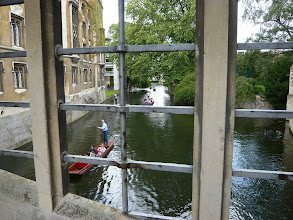 Photo: Stechboote in Cambridge  Punting boats on river cam