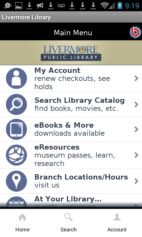 Livermore Public Library- screenshot