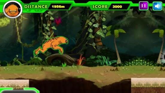 Alien Ben Humansaur Transforms Fight & Run - náhled