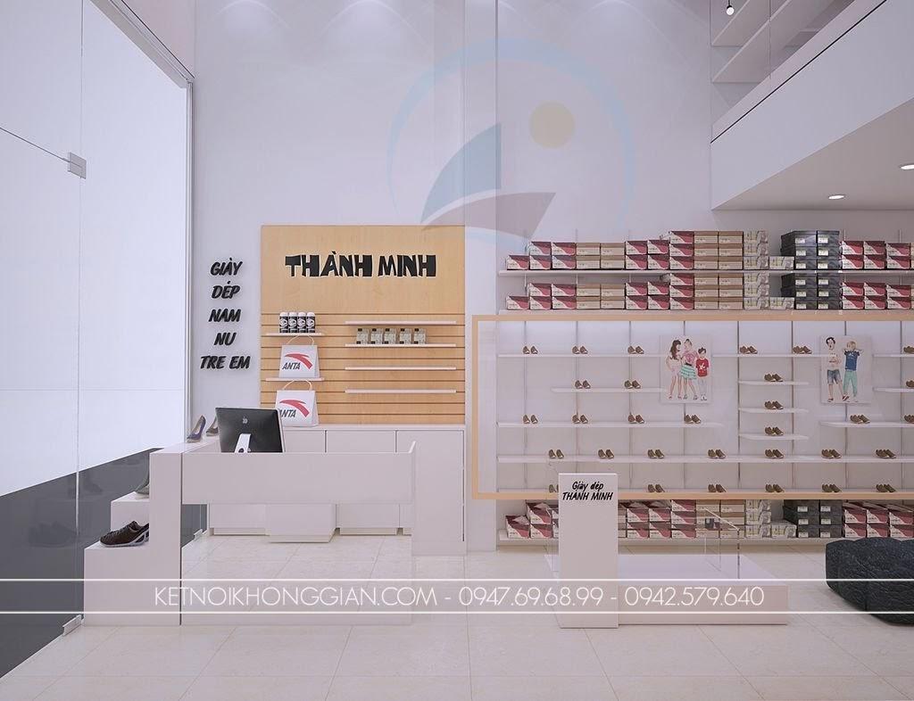 thiết kế shop giày dép thời trang trẻ trung