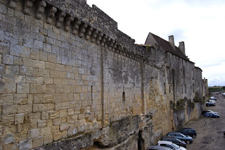 Photo: Cars parked in the former moat of Saint Emilion