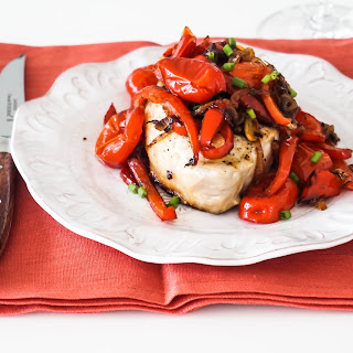Grilled Pork Chops with Pickled Peppers