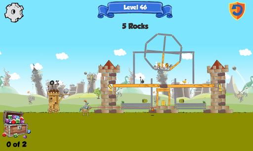 Kastles - a 2D medieval physics puzzle arcade game - screenshot