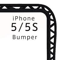 iPhone 5/5S バンパー(プラスチック)ブラック 『truss』