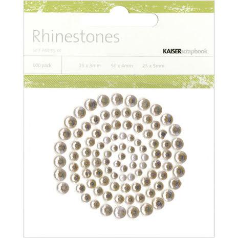 Kaisercraft Self-Adhesive Rhinestones 100/Pkg - Champagne